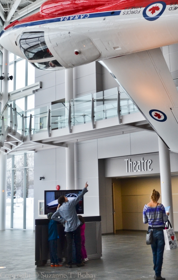 Lobby of the Canada Aviation and Space Museum